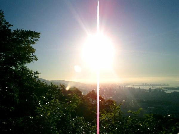 07月10日の高取山の朝