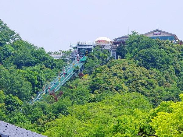笠松公園のケーブル