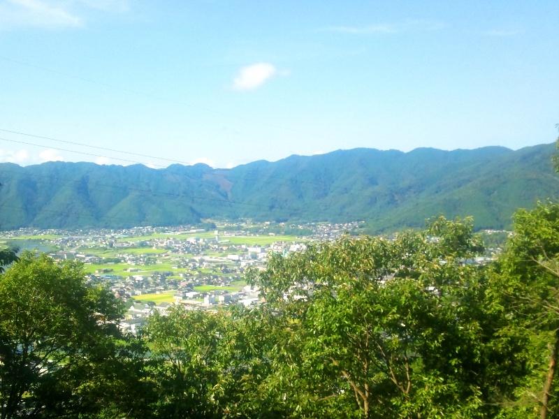 国見山方面の眺め