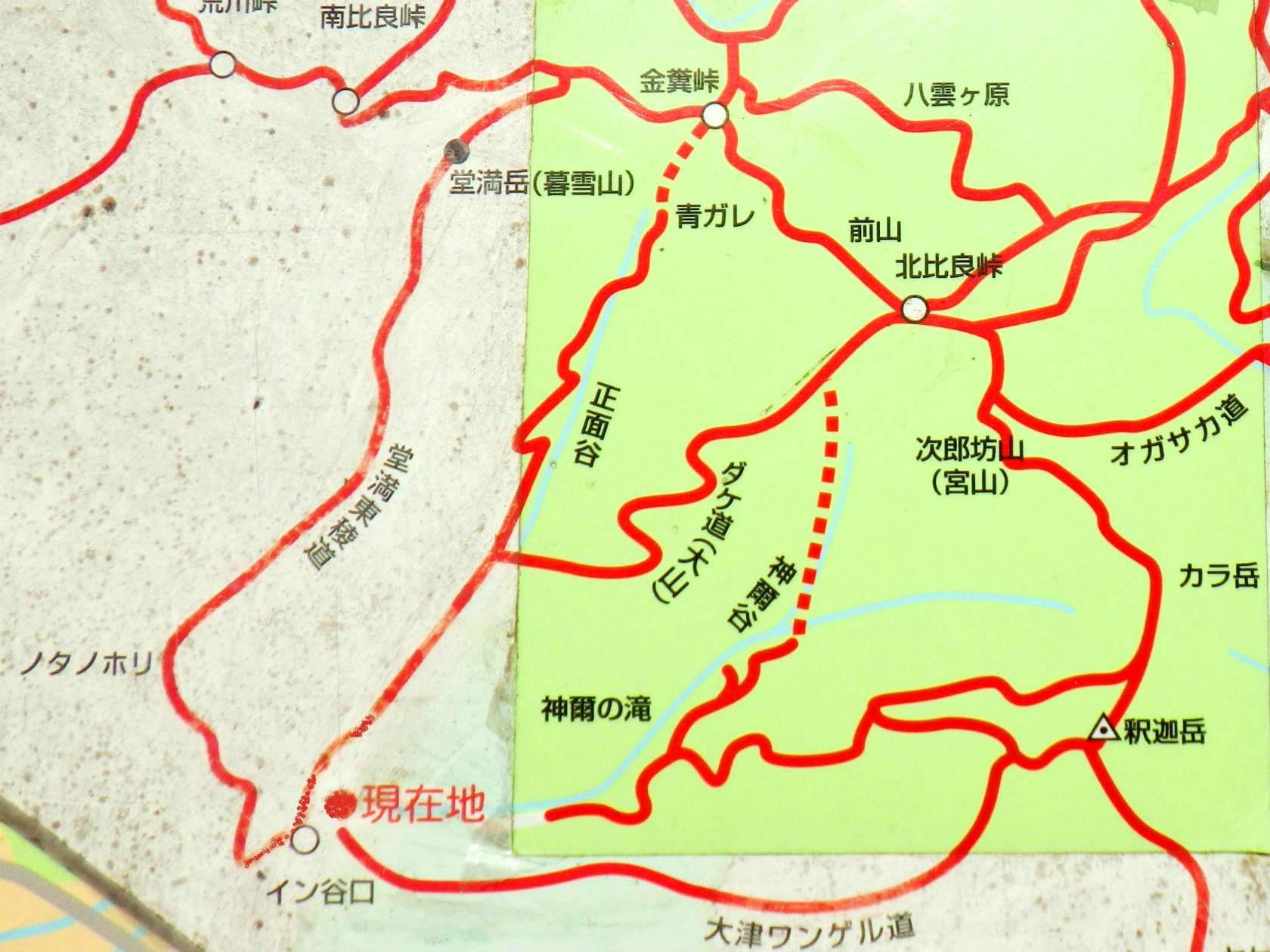 01b 堂満岳ルートマップ