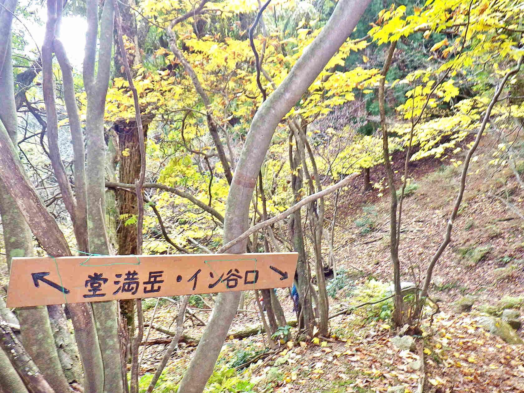 19b イン谷口への案内標識
