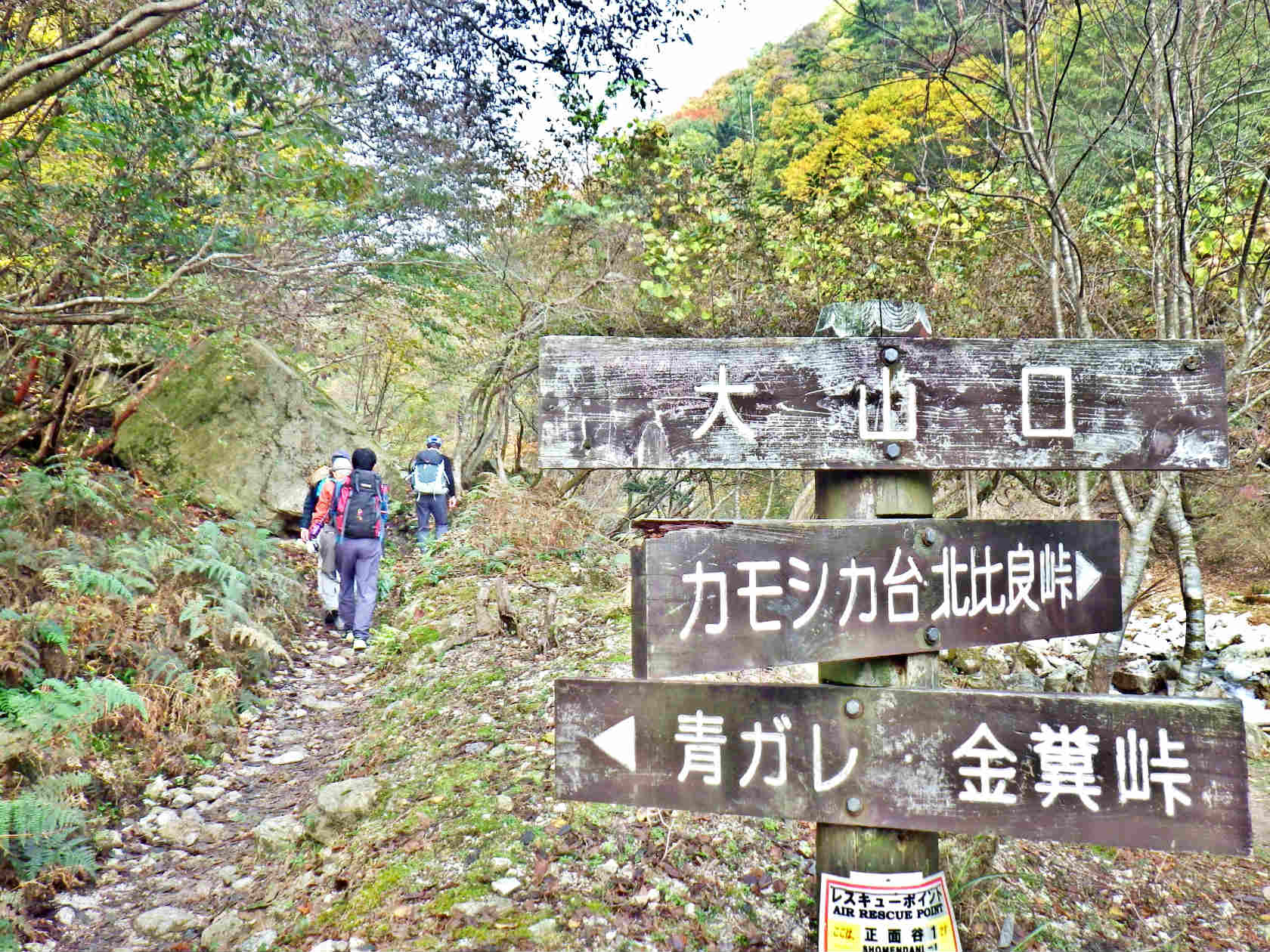 07a 大山口の分岐標識