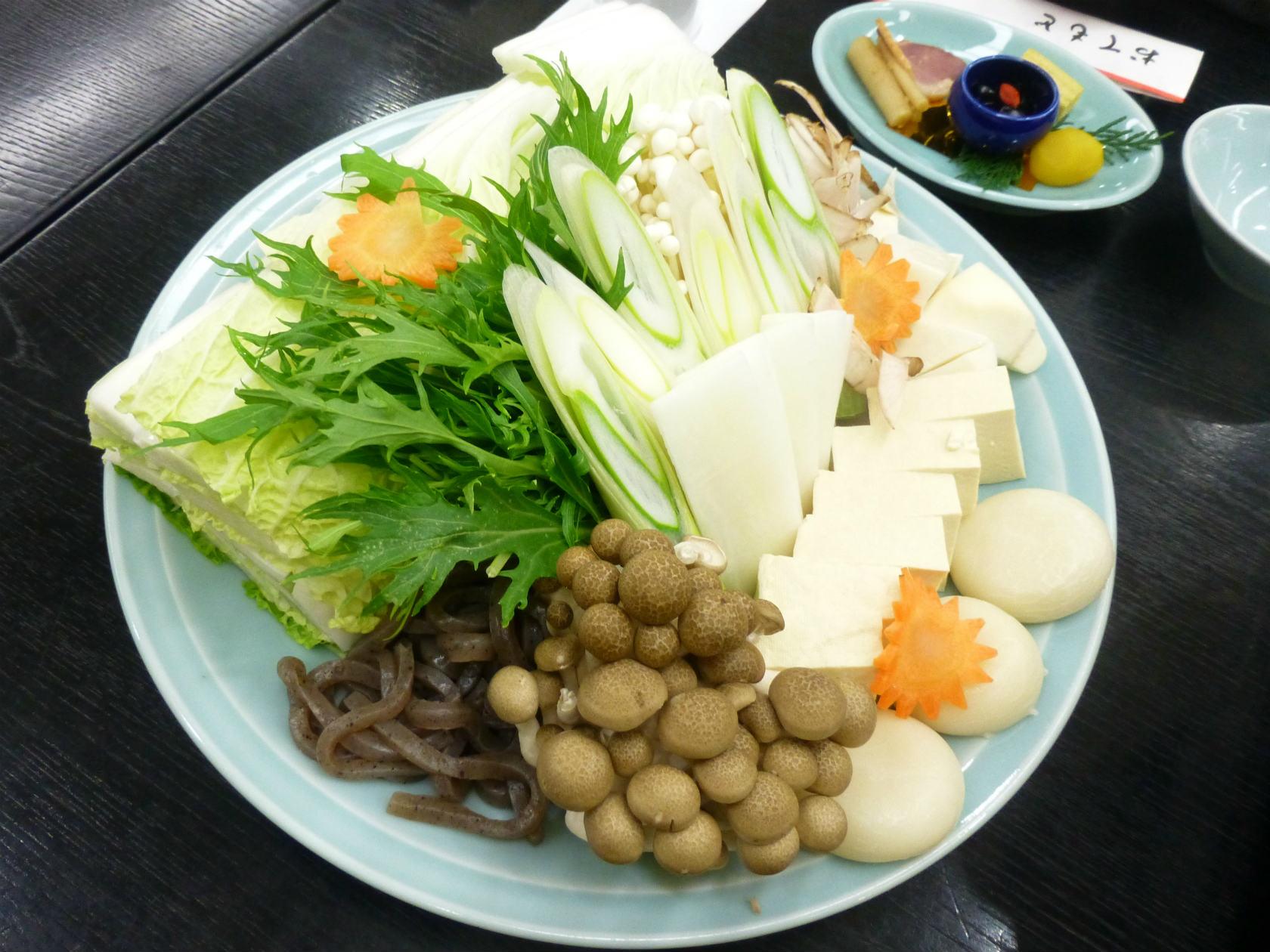 27b ボタン鍋の野菜