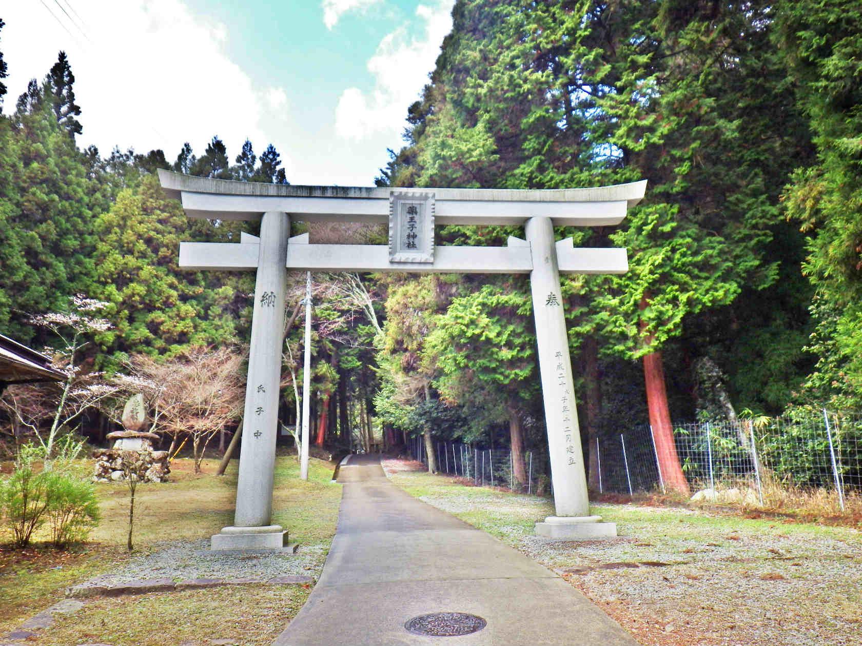 16a 薬王子神社の鳥居