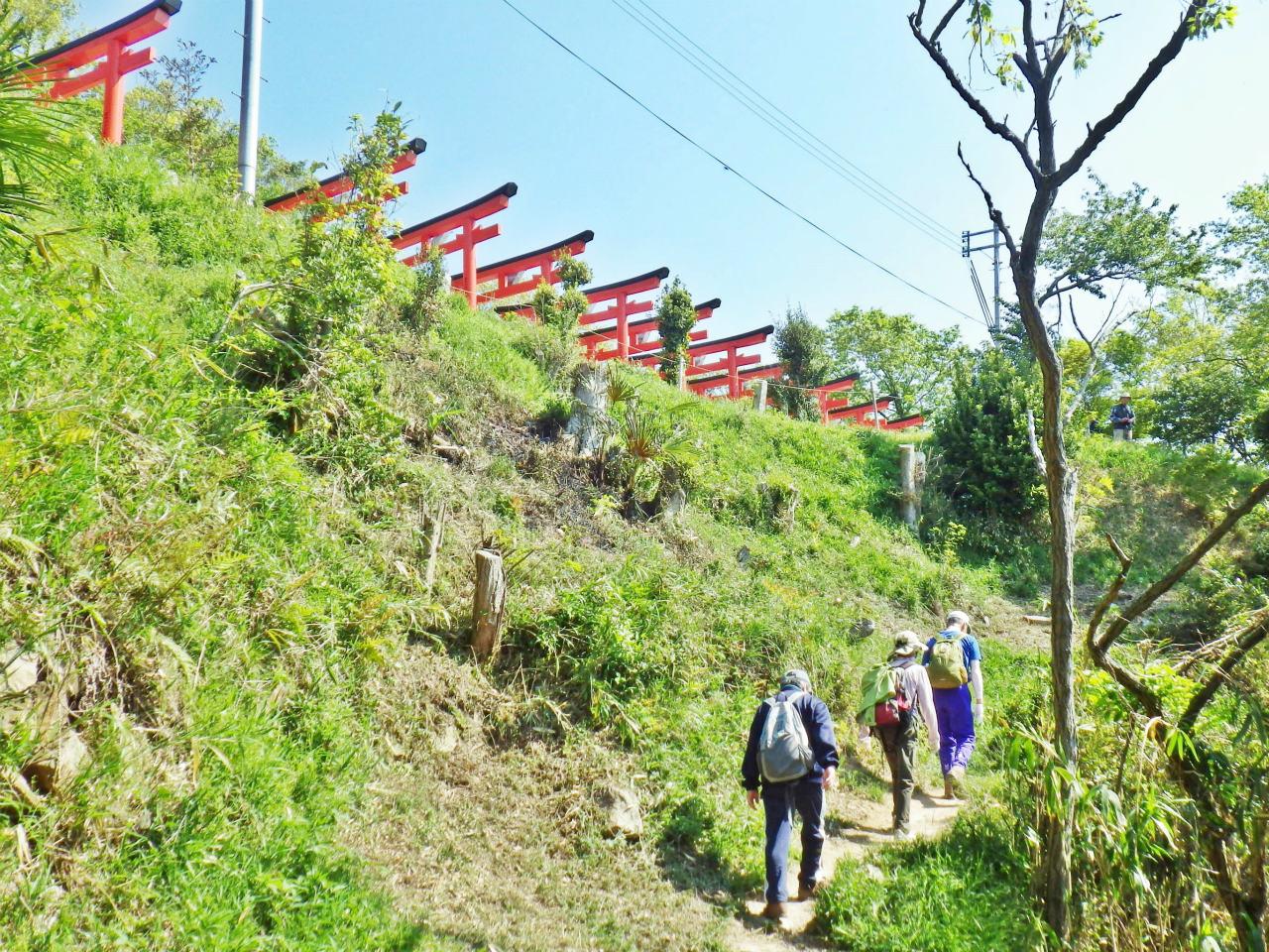 10b 荒熊神社下の縦走路
