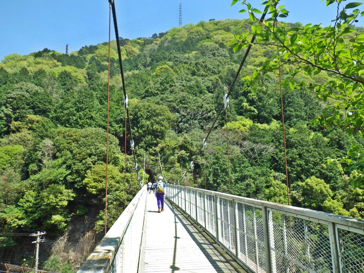 14b 天王吊り橋を渡る