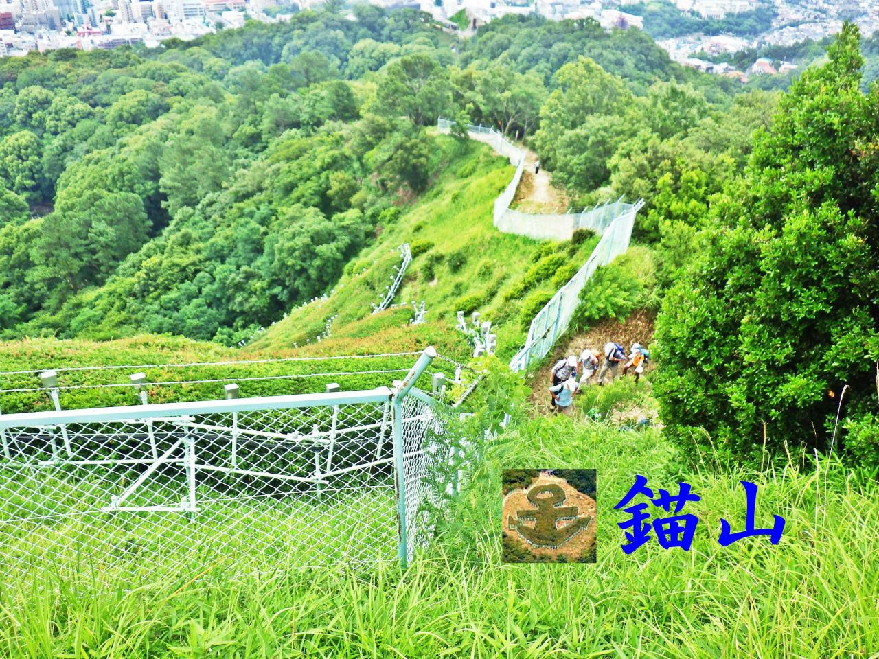 11a 錨山の電飾の柵
