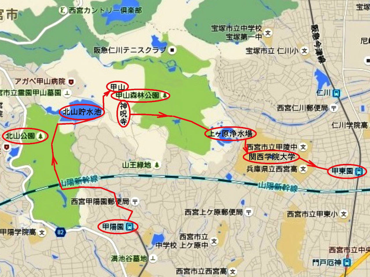 01a 初秋の甲山コース
