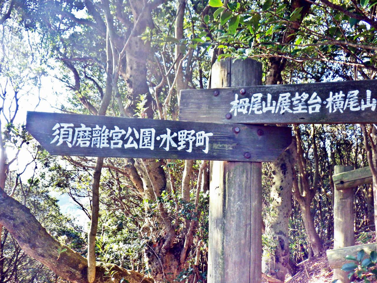 14a 離宮公園・水野町への標識