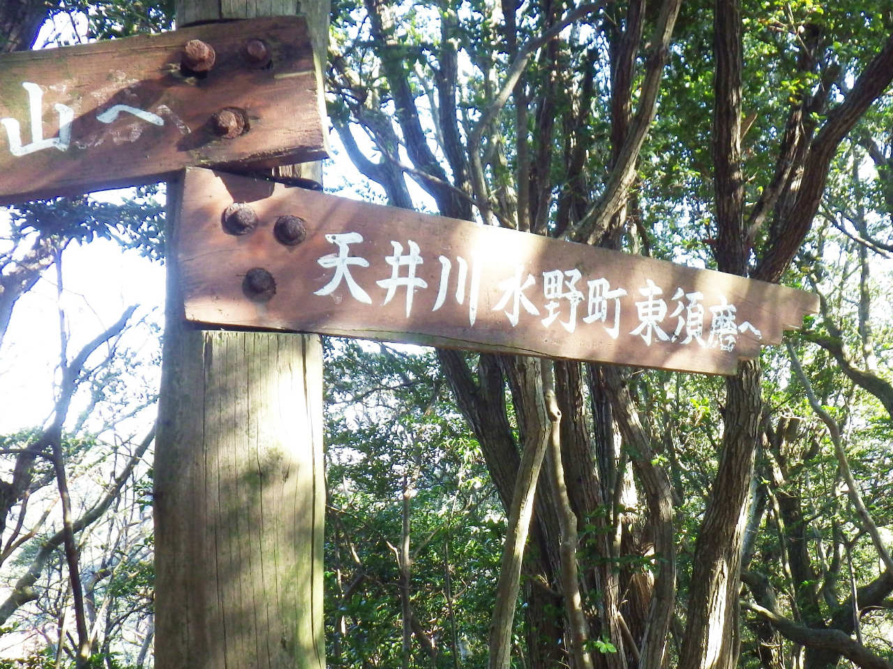 13a 天井川方面への標識