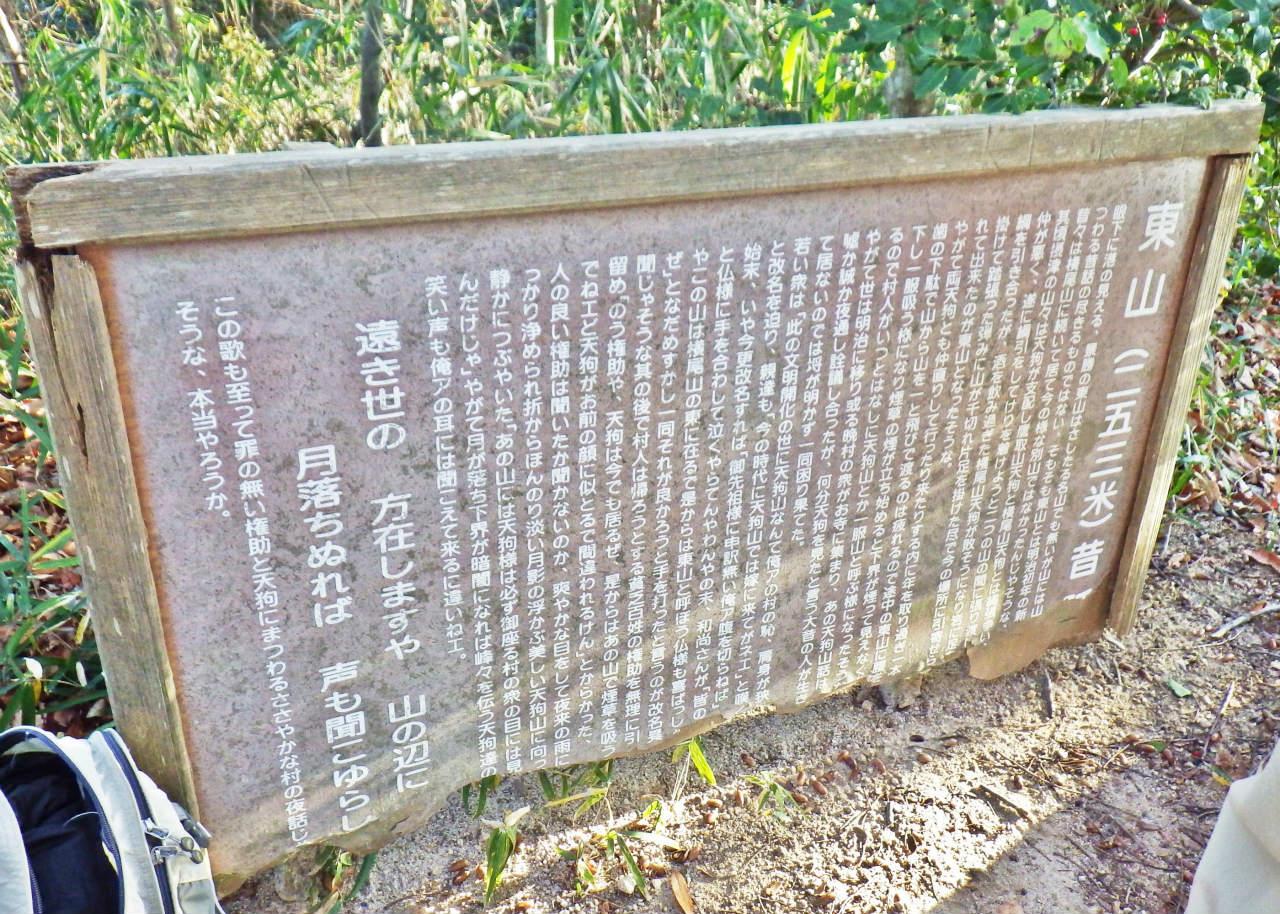 06a 東山々頂の説明板