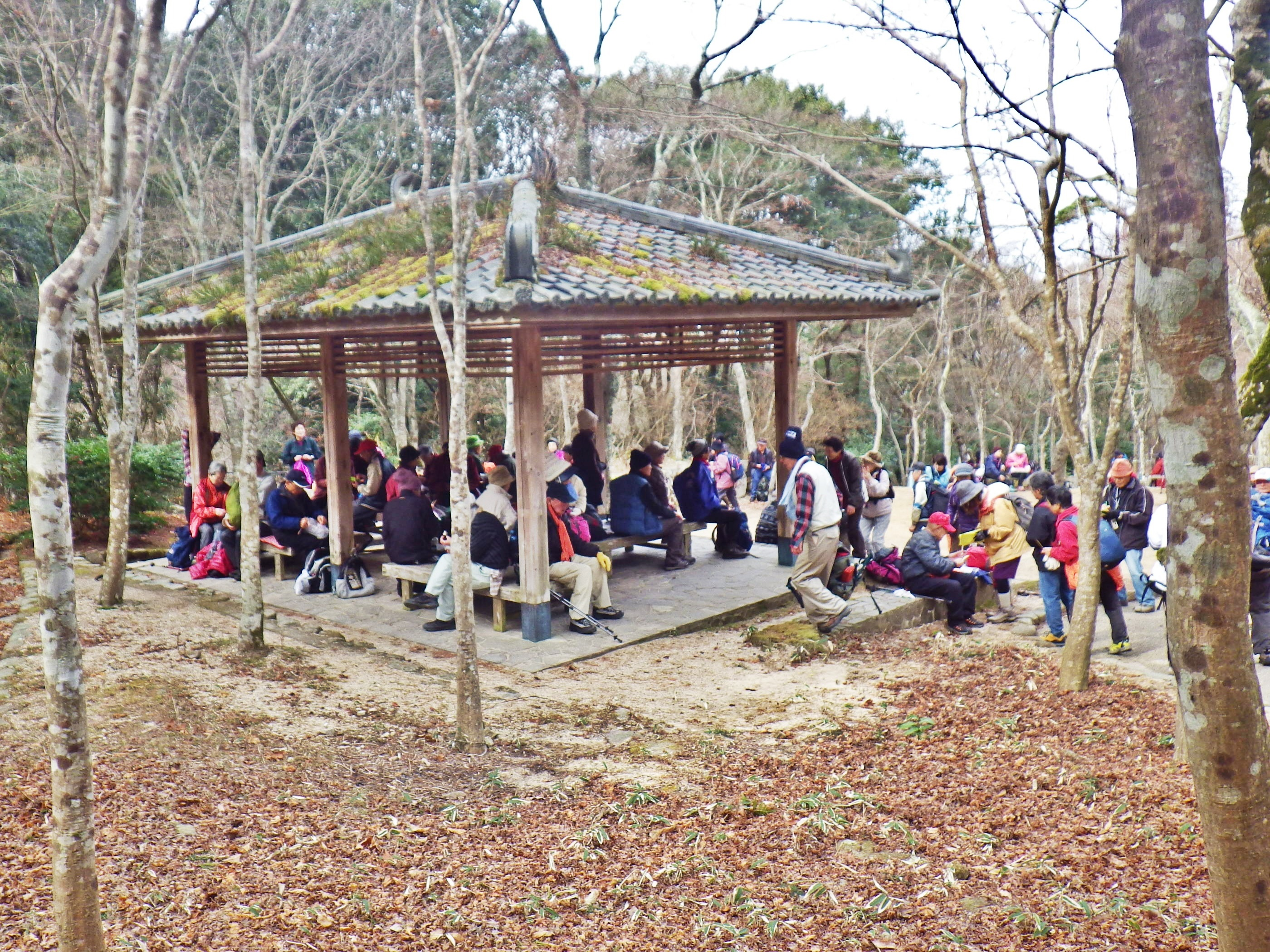 18b 公園で昼食休憩