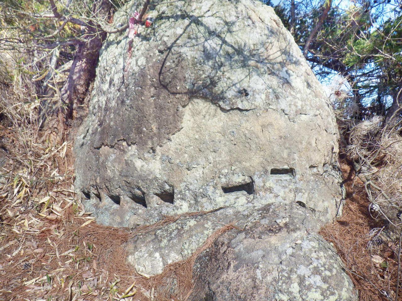07a 採石途中で放置された岩