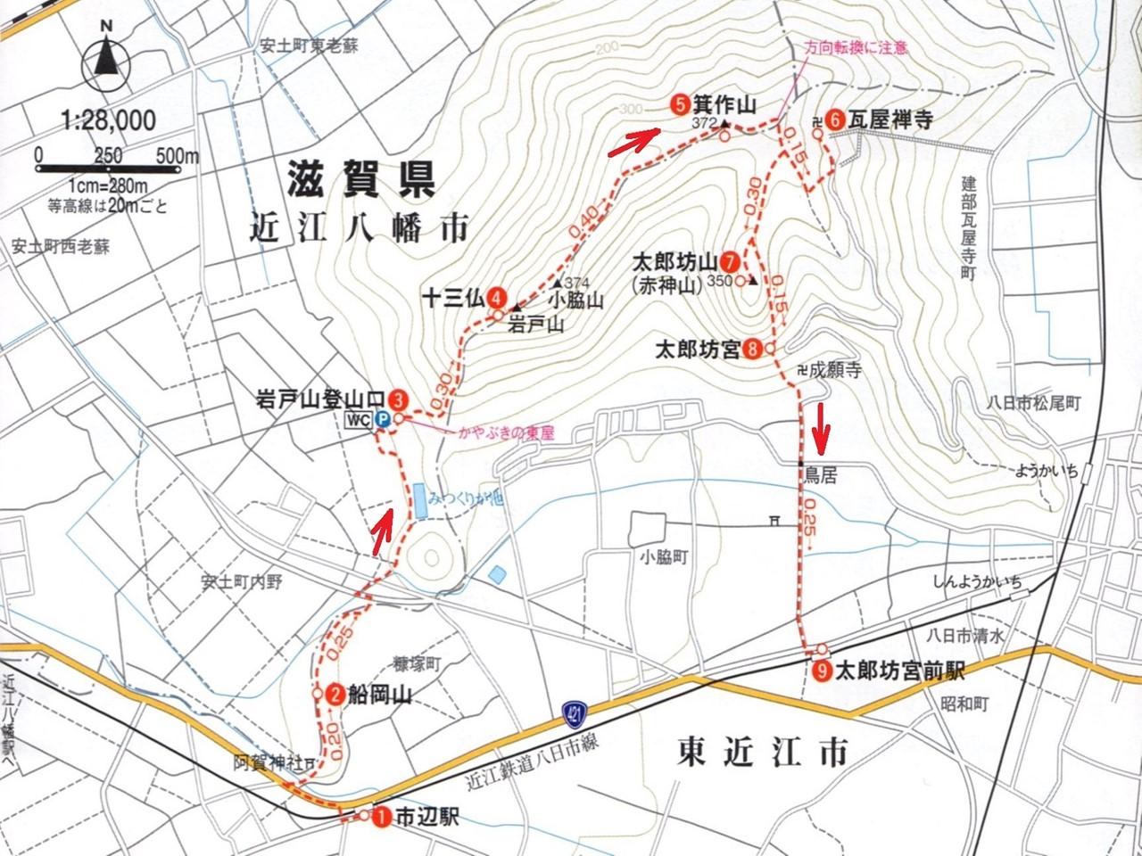 01a 箕作山ルートマップ