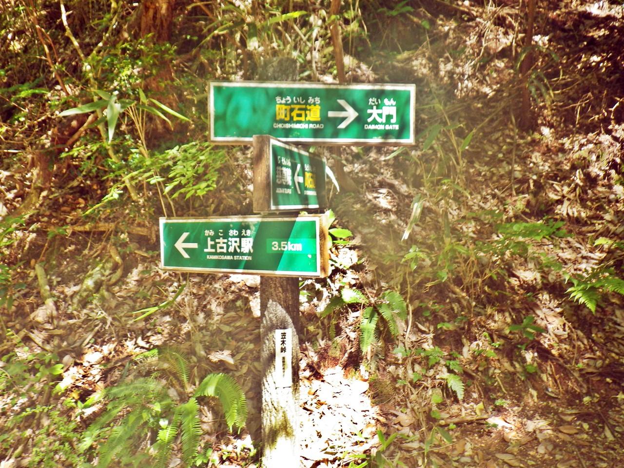 18a 笠木峠の分岐