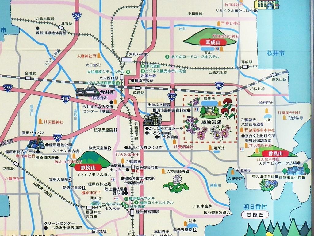 01a 大和三山のマップ